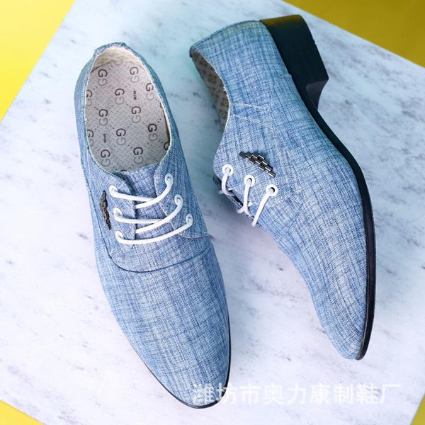 Men Fashion Casual Fabric Lace Up Flats