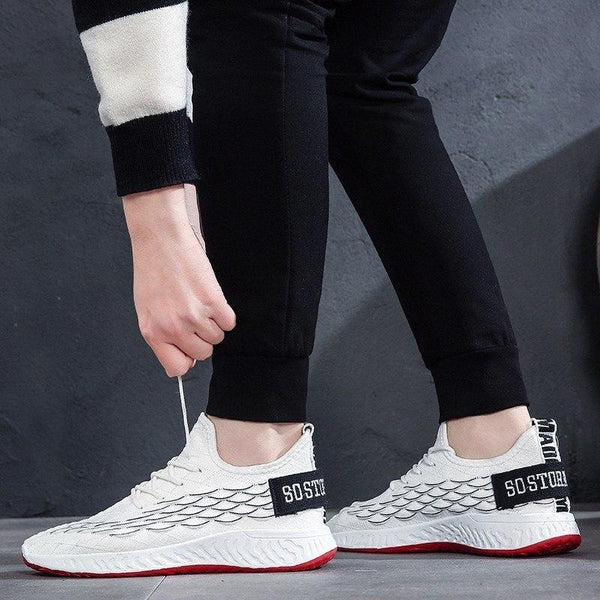 Fashion Design Casual Lace Up Mesh Breathable Sneakers