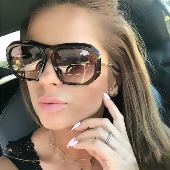 Women Vintage Oversized Square Sunglasses