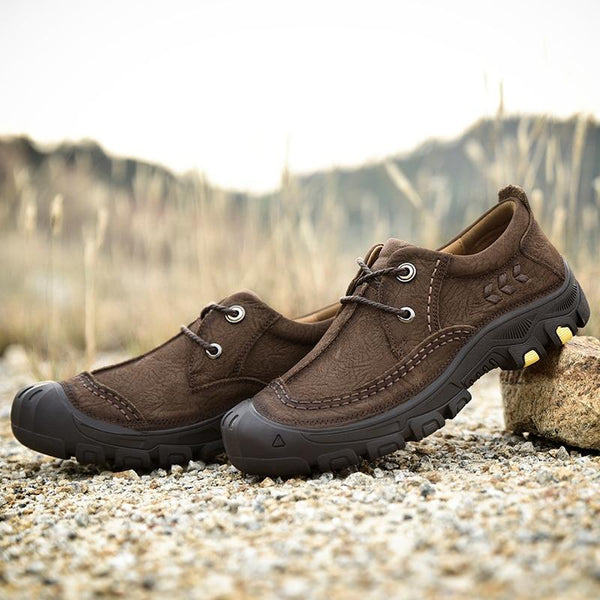 Men Breathable Genuine Leather Soft Fashion Outdoor Shoes
