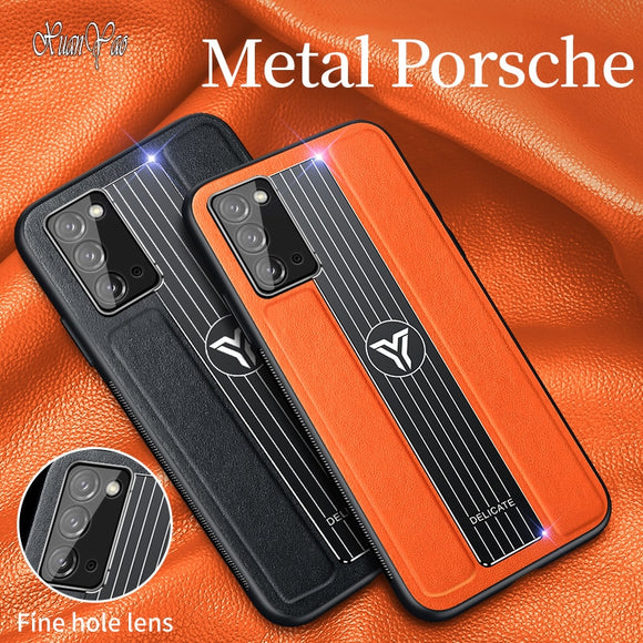 Hard Metal Magnetic Leather Case for Samsung Note 20 / Ultra(BUY 2 GOT 10% OFF, 3 GOT 15% OFF)