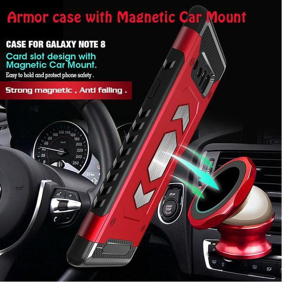 Armor Hybrid Car Magnetic Suction Bracket Cases( No Magnetic Car Mount )