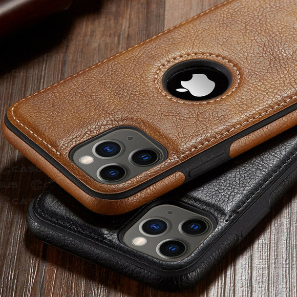 Vintage PU Leather Back Ultra Thin Case Cover for iphone iPhone 11 11 Pro 11 Pro Max