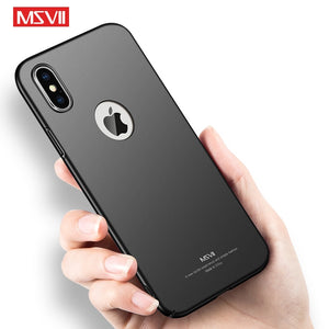 Luxury Ultra Thin Anti-fingerprint Shockproof Magnetic Ring Holder Business Protect Case For iPhone X XR XS MAX 8 7 6S 6 Plus