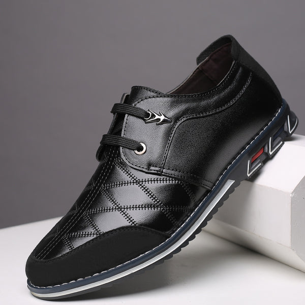 2019 Autumn Genuine Leather Handmade Breathable Lace-up Shoes