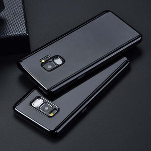 Phone Case - Ultra Thin Black Mirror 360 Protection Cover for Samsung Galaxy S9 S8 Note 8 9
