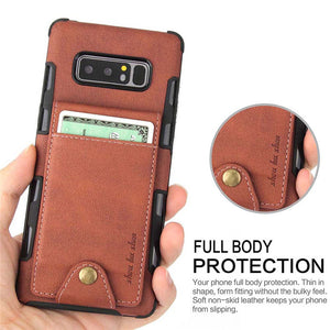 Wallet Card Slot Cover Case For Samsung S8 S9 + Note 8 9