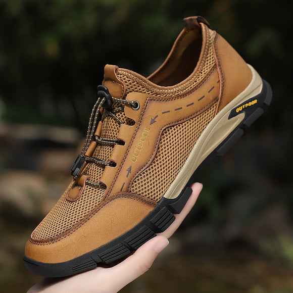 2021 Outdoor Breathable Genuine Leather Men's Shoes