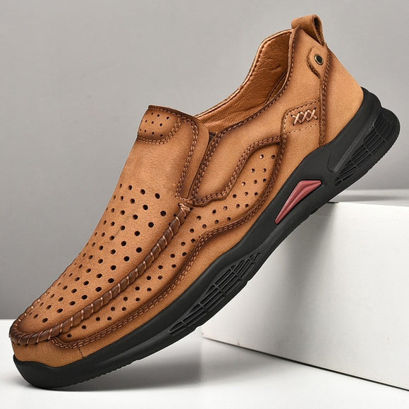 2021 New Men Comfortable Leather Shoes