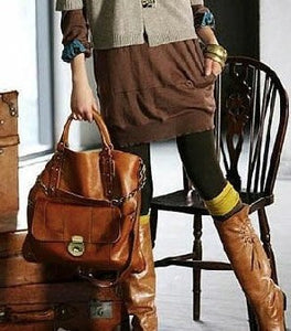 Bag - Womens Vintage Satchel Tote Bags