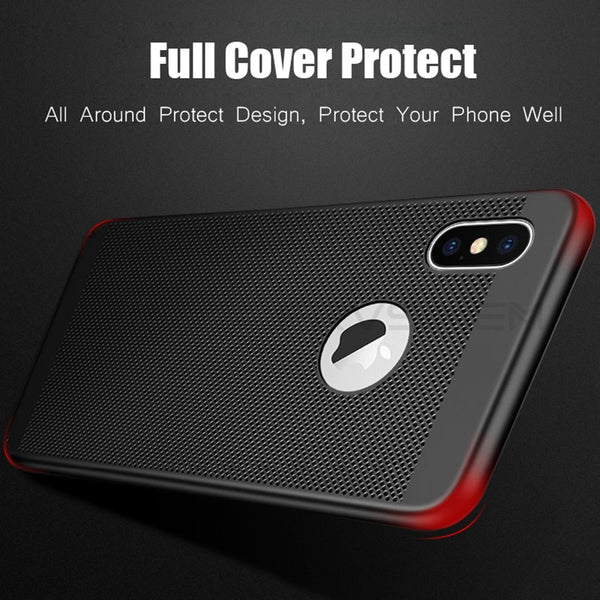 Luxury Ultra Slim Shockproof Hollow Heat Dissipation Cases For iPhone11 11Pro 11 Pro Max XS MAX XR X 8 7 Plus
