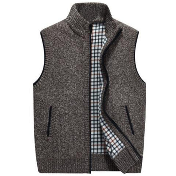 Cashmere Male Knitted Fleece Vest(BUY 2 GOT 5% OFF, 3 GOT 10% OFF)