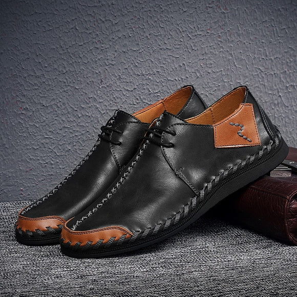Classic men's handmade leather shoes