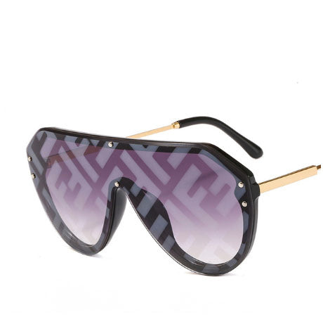 New F Watermark One-piece Sunglasses (Buy 2 Get 5% OFF, 3 Get 10% OFF)