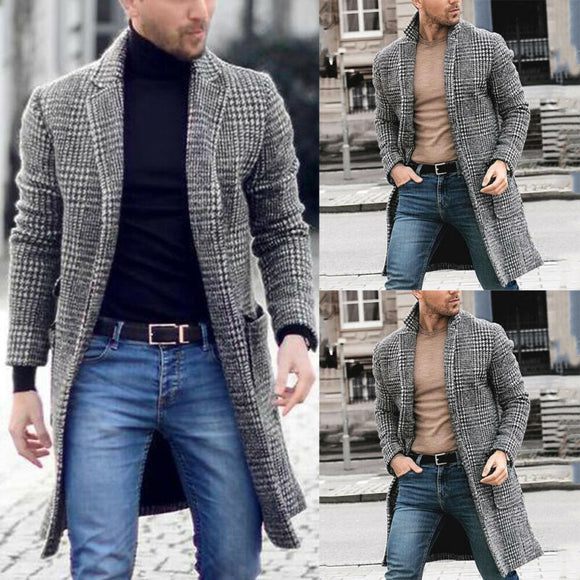 Korean Men Wool Blends Coats