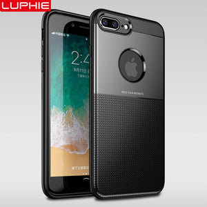 Luxury Ultra Thin Soft TPU Shockproof Armor Business Cases For iPhone X XS Max XR 8 7 6 6S Plus