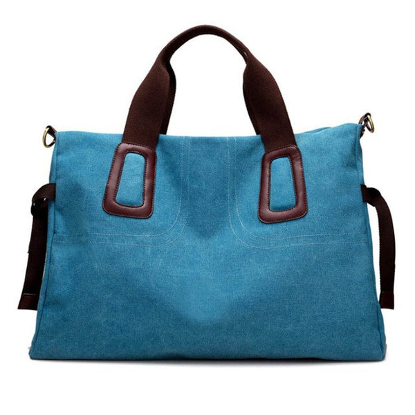 Bag - Women's Large Pocket Casual Canvas Handbag