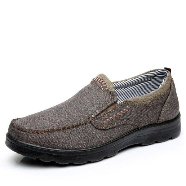 Men Shoes - Casual Style Breathable Cloth Lace Up Men Soft Sole Spring Shoes