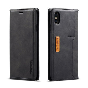 Magnetic Leather Holster Case for iPhone 11 Pro X XR XS MAX ProMAX