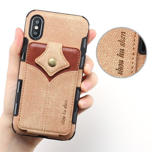 Leather Card Slots Wallet Flip Cases For iPhone X XS XR XS Max