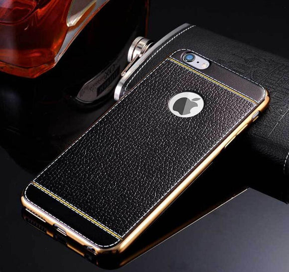 Litchi Leather Grain Case For iPhone