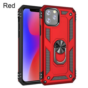 Luxury Shockproof Armor Car Holder Ring Case For iphone 11 Pro Max X XR XS 7 8 6 6s PLus