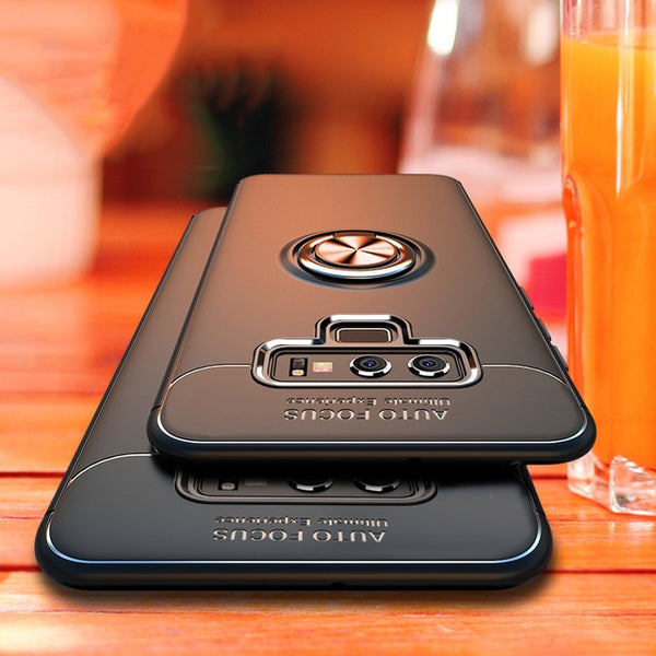 Luxury Car Magnetic Stand Shockproof Armor Case For Samsung Note 9 S10 S10E S10Plus Note 8 s8 plus