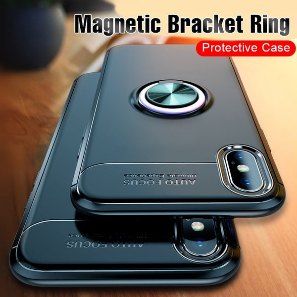 new product 6b905 4bef6 Luxury Magnetic Car Bracket Case For iPhone X XR XS MAX