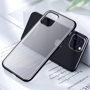 Matte Skin Electroplating Frame TPU Phone Case Cover For iPhone