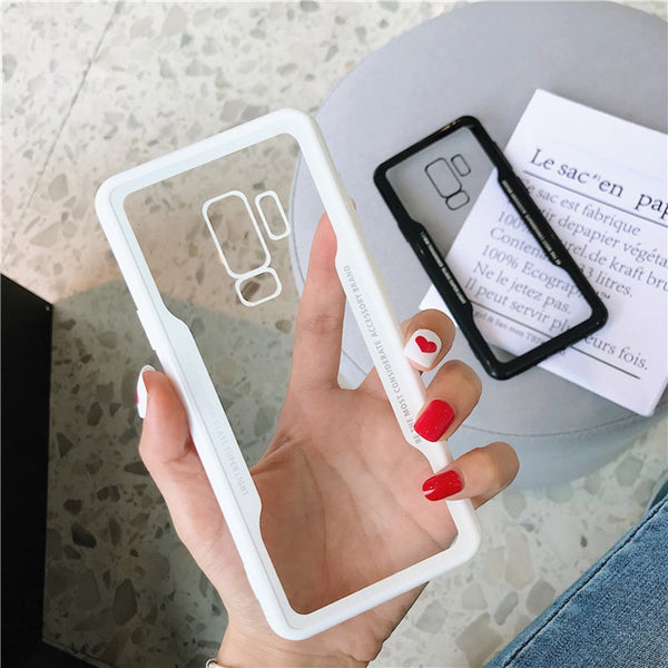 Luxury TPU Tempered Glass Case For Samsung Note 9 8 S9 S8
