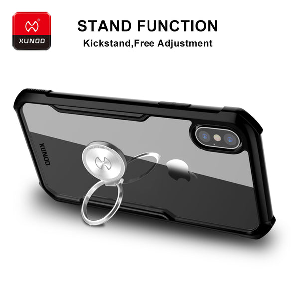 Luxury Shockproof Protective Finger Ring Case For iphone 7 8 Plus X XS MAX XR