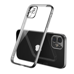 Luxury Plating Square Frame Case For iPhone