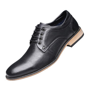 Men Oxfords British Style Genuine Leather Business Dress Shoes