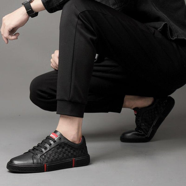 Top Men Fashion Genuine Leather Sneakers