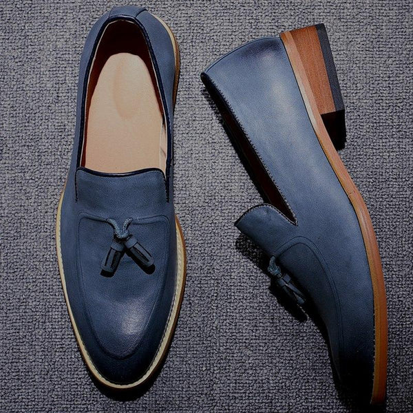 Shoes - High Quality Men's Vintage Tassel Leather Loafers