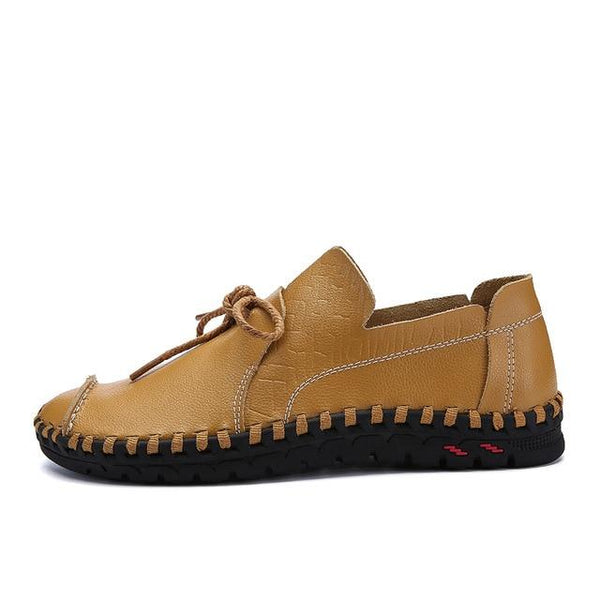 Men's Shoes - Genuine Leather Flat Anti-Slip Moccasins Shoes