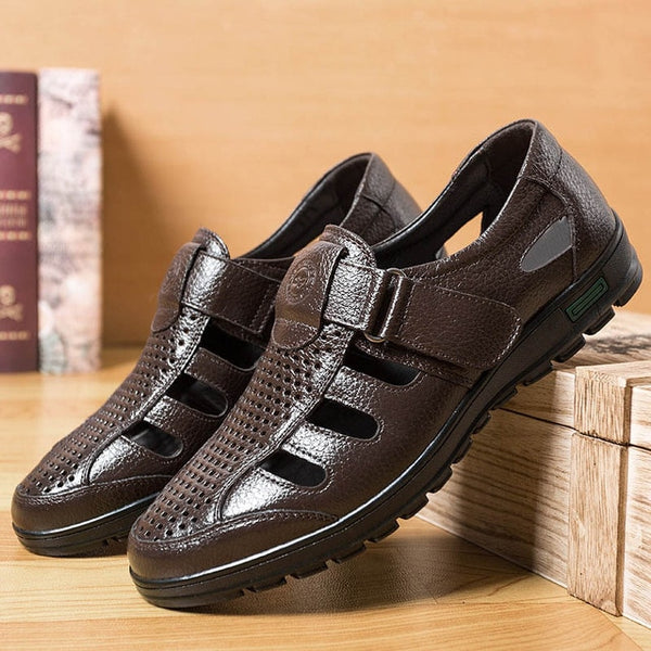 Shoes - 2019 Men's Genuine Leather Beach Shoes