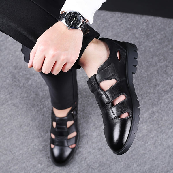 Shoes - Men Sandals Genuine Leather Casual Sandals