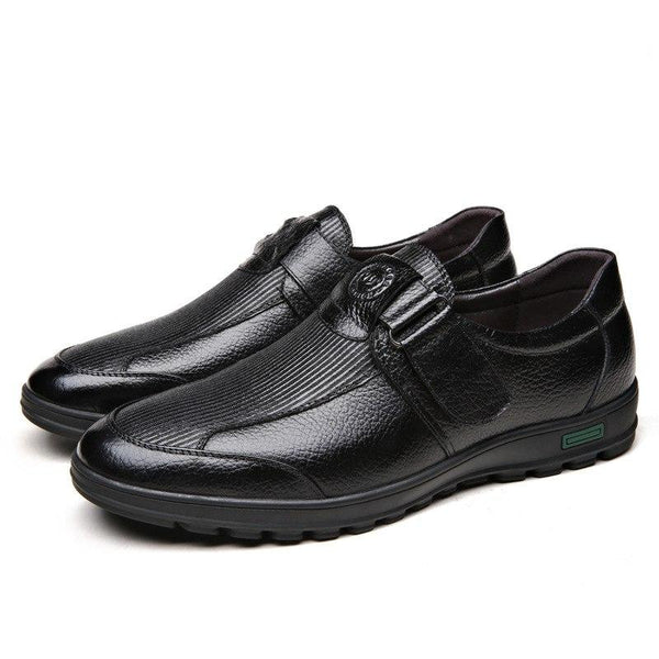 Men Comfy Leather Sneakers Comfortable Shoe