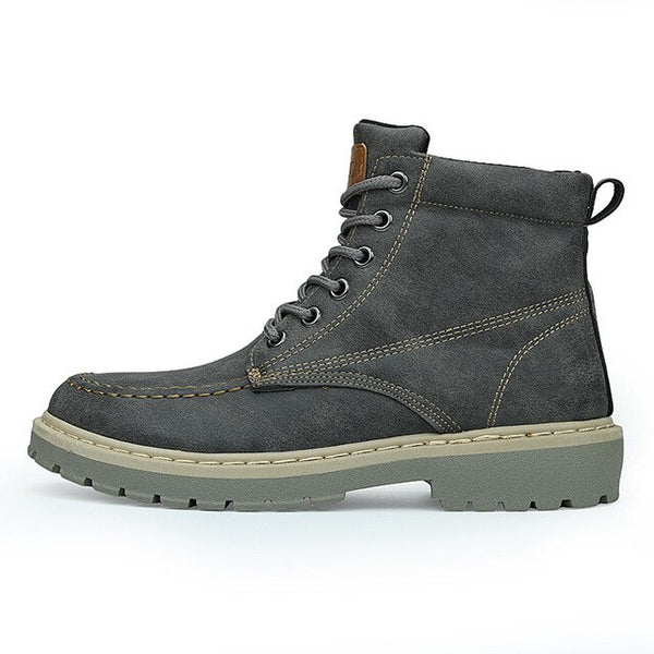 Men's Shoes - Vintage Genuine Leather Men Ankle Boots