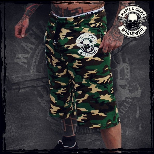 Military Gyms Men's Loose Camouflage Cargo Shorts