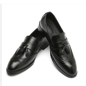 Luxury Men Classic Brogue Leather Dress Shoes