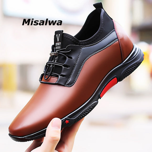 New Arrival Platform Elastic Casual Height Increasing Shoes
