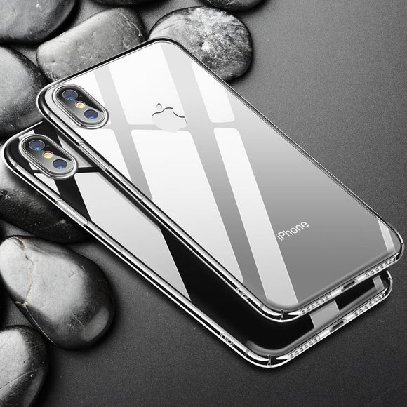 Transparent Ultra Slim Hard Plastic Cover For iphone 6 6S 7 8 Plus X
