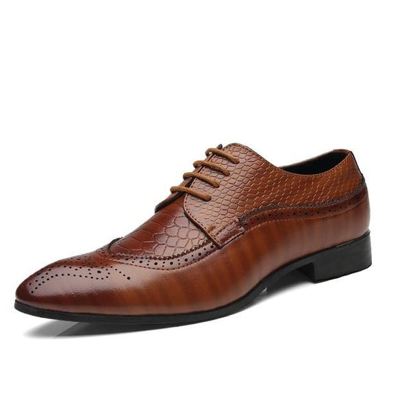 Men's Shoes - Classic Oxford Leather Dress Shoes