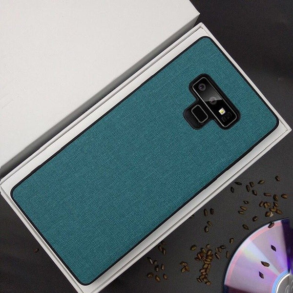 Ultra-thin Soft Silicone Cloth Texture Phone Case for Note9 8 S9 S9 plus S8 S8 Plus