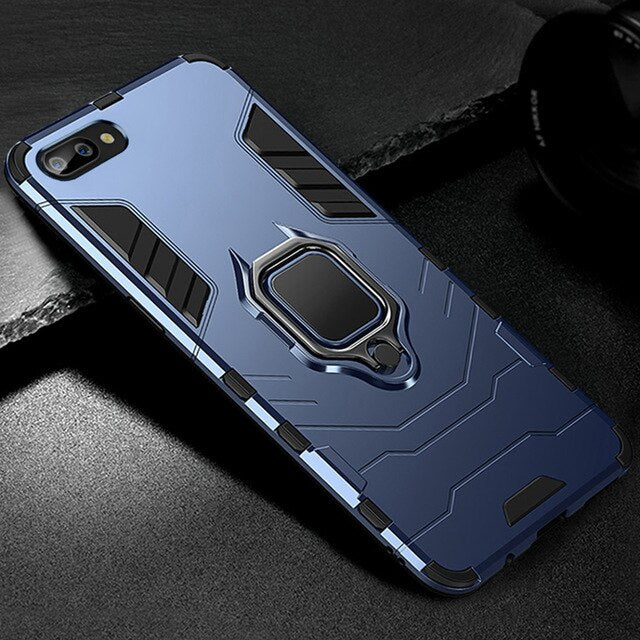 Heavy Duty Anti-knock Armor Phone Case for iPhone X XR XS Max With Holder