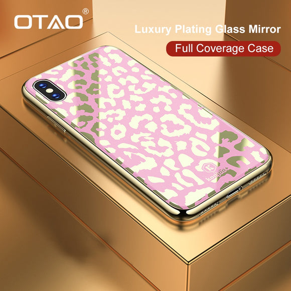 Phone Accessories - New Plating Glass Leopard Print Case for iPhone X XS MAX XR