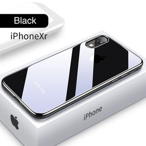 Luxury Retro Shockproof Ultra Thin Plating Silicone Soft Case For iPhone X XS Max XR 8 7plus