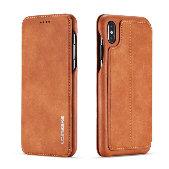 Retro Magnetic Flip Wallet Leather Case for iphone XS Max XR XS X